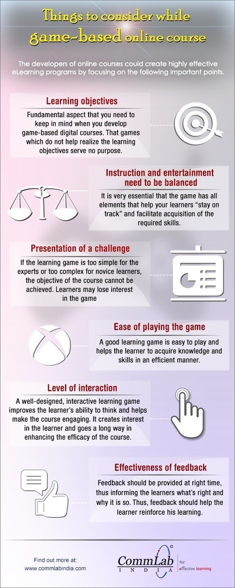 Developing a Game-Based E-learning Course: Aspects to Consider [Infographic] | digital marketing strategy | Scoop.it