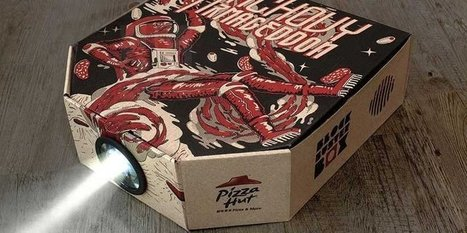 Pizza Hut has a new box that turns into a movie projector for your smartphone | Era Digital - um olhar ciberantropológico | Scoop.it