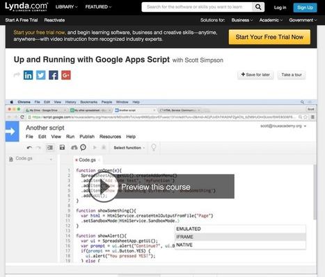 6 manières d'apprendre Google Apps Script | Google Apps  (FR) | Scoop.it