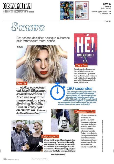 "Cosmopolitan - "" C'est beau à lire"" | Zelda la Grange | Scoop.it"