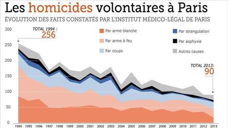 En 20 ans, le nombre d'homicides a été divisé par trois à Paris | 16s3d: Bestioles, opinions & pétitions | Scoop.it