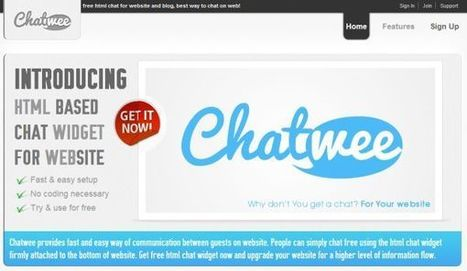 Chatwee – sencillo sistema de chat para sitios web | Las tic en el aula (herramientas 2.0 ) | Scoop.it