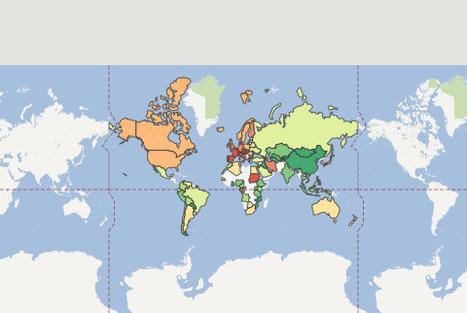 Previsiones mundiales de crecimiento del PIB en 2013 | Nuevas Geografías | Scoop.it