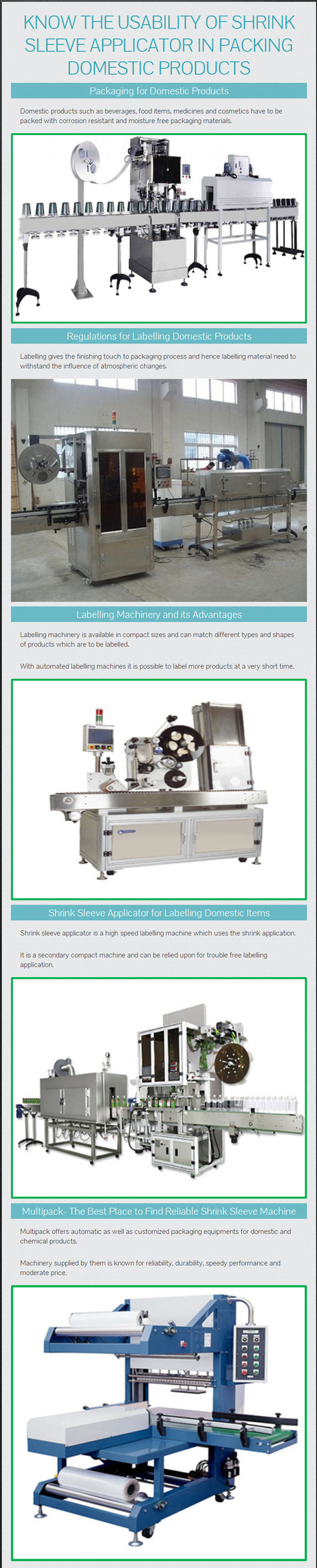 Know the Usability of Shrink Sleeve Applicator in Packing Domestic Products – www.multipackmachinery.com | Shrink Tunnel | Scoop.it