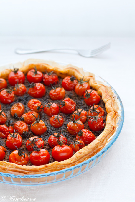 Torta con pomodori ciliegini e tapenade — Fior di frolla | Ricette di cucina interessanti | Scoop.it