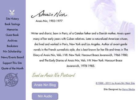Anais Nin | Voices in the Feminine - Digital Delights | Scoop.it