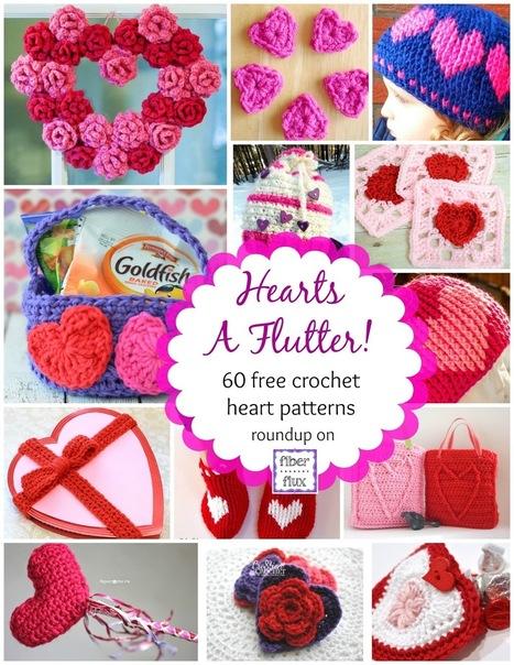 Fiber Flux...Adventures in Stitching: Hearts A Flutter! 60 Crochet Heart Projects | Free Crochet Patterns | Scoop.it