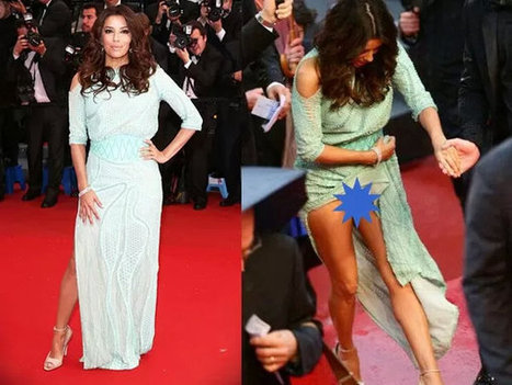 Eva longoria dress malfunction