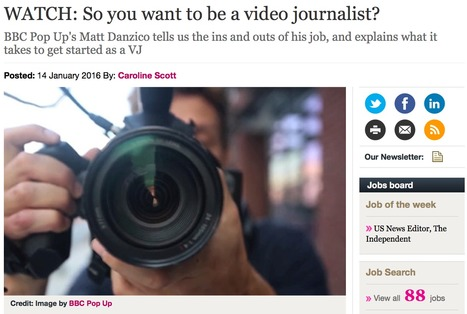 WATCH: So you want to be a video journalist? | formation JRI - Journaliste reporter images | Scoop.it