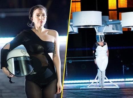 Photos : Lady Gaga : elle présente une toute nouvelle invention, la robe volante ! | Sélection d'articles : innovation | Scoop.it