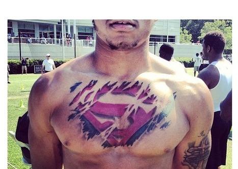 Star Recruit Jalen Tabor Dominates Tattoo Game with Slick Superman Ink - Bleacher Report | Tattooed | Scoop.it
