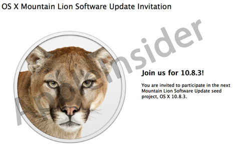 OS X 10.8.3 beta allows developers to download new builds through Software ... - Apple Insider | apple farah | Scoop.it