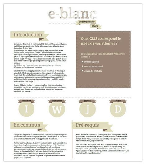 Voici le comparateur de CMS pour choisir entre : Indexhibit, Wordpress, Joomla et Drupal ? | Time to Learn | Scoop.it