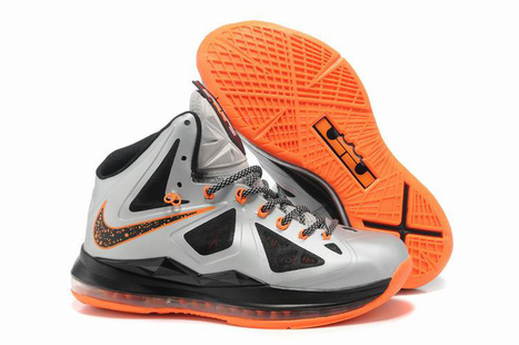 Nike Lebron 10 GS Silver Black Orange Shoes - Lebron 10 For Sale | 2012 Fashion Moncler Womens Jackets | Scoop.it
