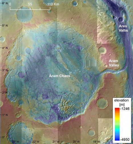 Aram Chaos Reveals Ancient Ice Lake on Mars | Biosciencia News | Scoop.it