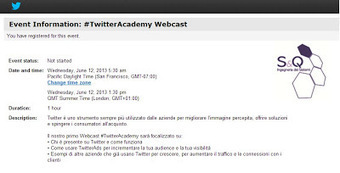 E-Former: TWITTERADS: primo Webcast #TwitterAcademy in Italiano | SocialMedia & Web2.0 | Scoop.it