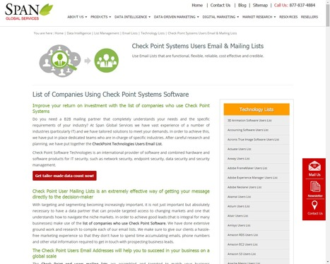 Buy Check Point Systems Users List from Span Global Services | Span Global Services | Scoop.it