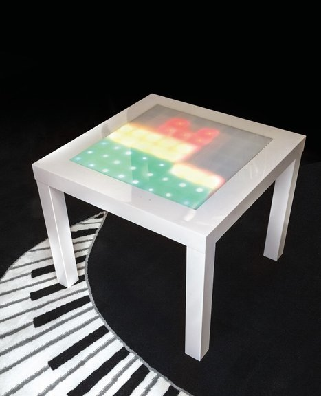 Transform an Ikea Side Table into a Music Visualizer | Make: | Open Source Hardware News | Scoop.it