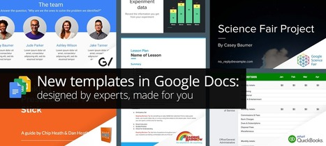 New templates in Google Docs: designed by experts, made for you | Educational News and Web Tools | Scoop.it