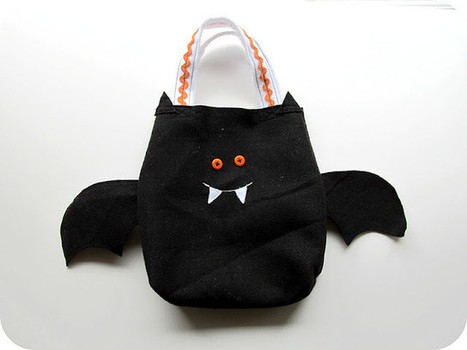 Easy Sew Simple Felt Trick or Treat Bags with Templates   Sewing Scissors   Scoop.it