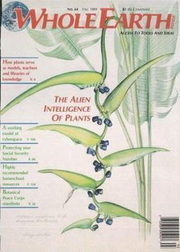 Whole Earth Review Fall 1989 - The alien intelligence of plants | Ayahuasca  アヤワスカ | Scoop.it