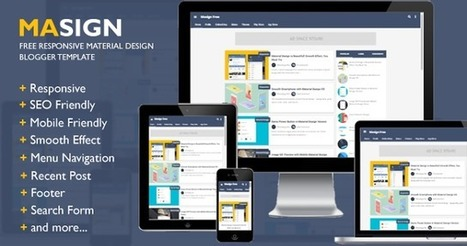 Masign Free Responsive Material Design Blogger Template   Blogger themes   Scoop.it