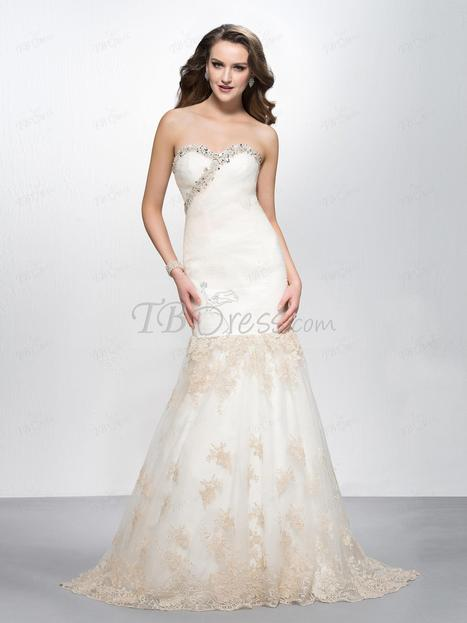 $ 175.19 Delicate Mermaid/Trumpet Floor-length Sweetheart Appliques/Beading Evening Dress Designed Independently | SEXY | Scoop.it