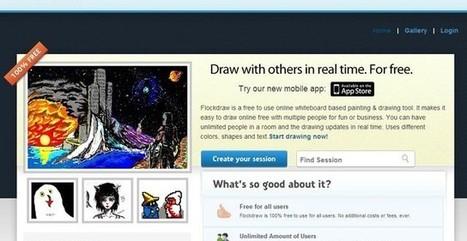 FlockDraw, un sitio para realizar dibujos de forma colaborativa | Herramientas Digitales para el profesorado | Scoop.it