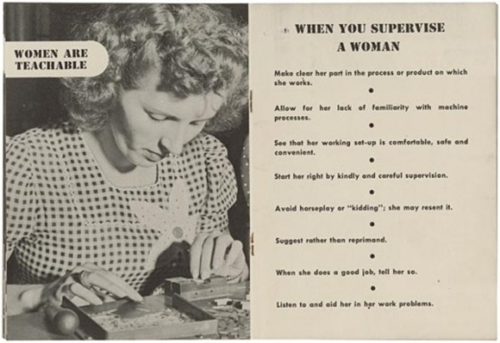 "'Women are teachable"", c.1940s 