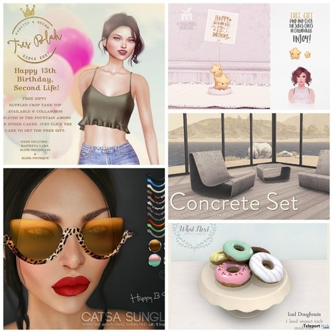 Several Second Life 13th Birthday Gifts at COLLABOR88 Event | Teleport Hub - Second Life Freebies | Second Life Freebies | Scoop.it