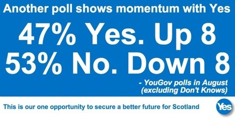 Breakthrough poll shows that Yes has the big momentum | Yes Scotland | Referendum 2014 | Scoop.it
