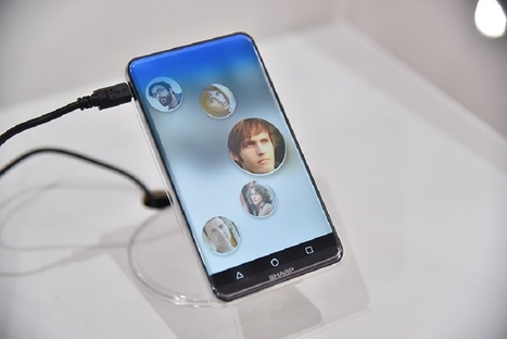 Meet Sharp's Corner R Concept: A Smartphone With Curved-Edge Display, Tiny Bezel   Japanese Science & Technology News   Scoop.it