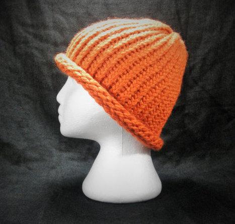 Winter Hat, Pumpkin Orange, Handmade, Men and Women   Cucurbitaceae   Scoop.it