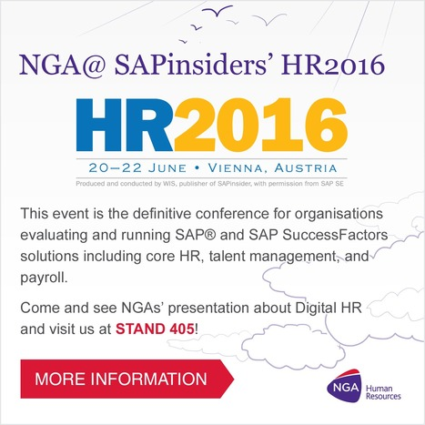 NGA@ SAPinsiders HR2016 in Vienna | My Daily Journey | Scoop.it