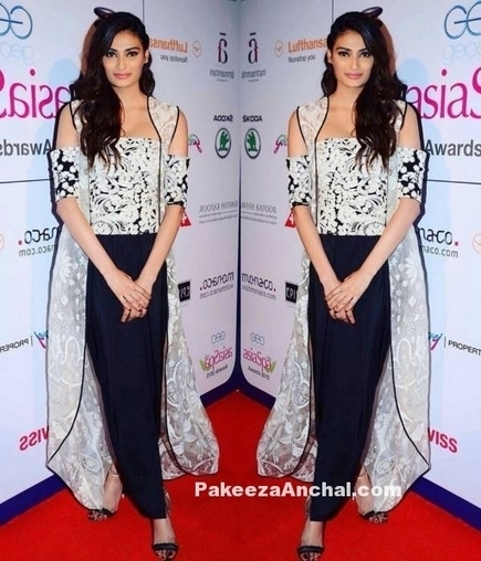 Athiya Shetty in Jade by Monica and Karishma outfit | Indian Fashion Updates | Scoop.it