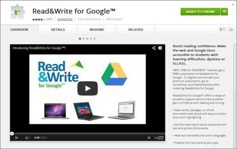 Read&Write extension for Google - new enhancements | immersive media | Scoop.it