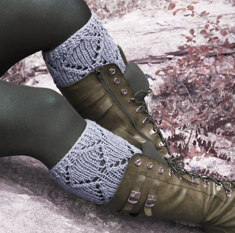Short Knit Boot Cuffs, Short Leg Warmers. Knitted Boot Cuffs Gray, GREY Boot Socks, Accessory Woman, Boot Topper, Boot Tops, Winter Fashion | fashion | Scoop.it
