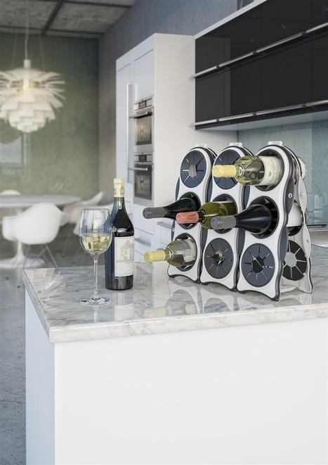 Ấn tượng với chiếc giá để rượu đẹp mắt   MegaHOME.vn   Máy làm sữa đậu nành   Scoop.it