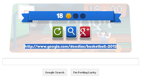 London 2012 basketball – An interactive animated Google Doodle | RtoZ Social Media News | London 2012 olympics Doodle | Scoop.it