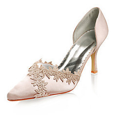 Top Quality Satin Upper High Heel Closed-toes With Lace Wedding Bridal Shoes | Product We Love | Scoop.it
