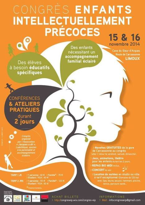 Congrès Enfant intellectuellement précoce à Limoux - | Graphiste, Art addict - Talents - Ressources | Scoop.it