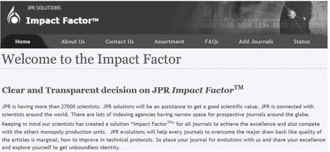 Counterfeit Impact Factors are Devaluing the Real One | Moving beyond impact factors | Scoop.it