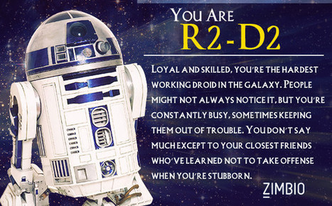 I took Zimbio's 'Star Wars' personality quiz, and I'm R2-D2. Who are you? | Trying to scoop | Scoop.it