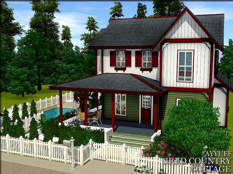 ayyuff's Gred Country Cottage -Furnished- : FREE TODAY (TSR) | sims 3 lots | Scoop.it