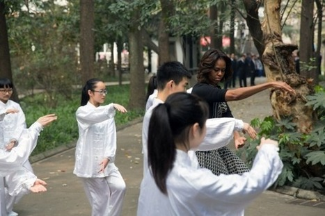 First Lady Michelle Obama tries Tai Chi | tai chi & Qigong | Scoop.it