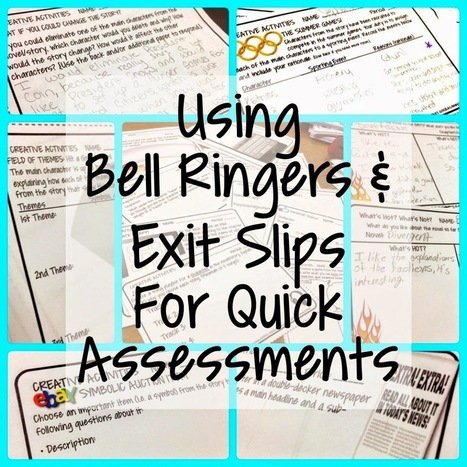 Mrs. Orman's Classroom: Using Bell Ringers and Exit Slips for Quick Assessments | Common Core Resources for ELA Teachers | Scoop.it