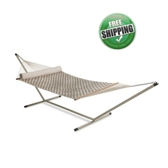 13'FT SOFT COMB QUILTED HAMMOCK - OFF WHITE & FLAX | Hammocks in India | Scoop.it