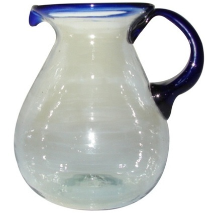 Pitcher With Cobalt Rim | Mexican Furniture & Decor | Scoop.it