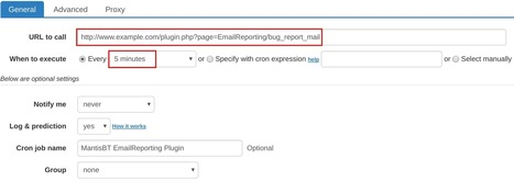 How to set up cron job for MantisBT EmailReporting Plugin | How to set cron jobs | Scoop.it