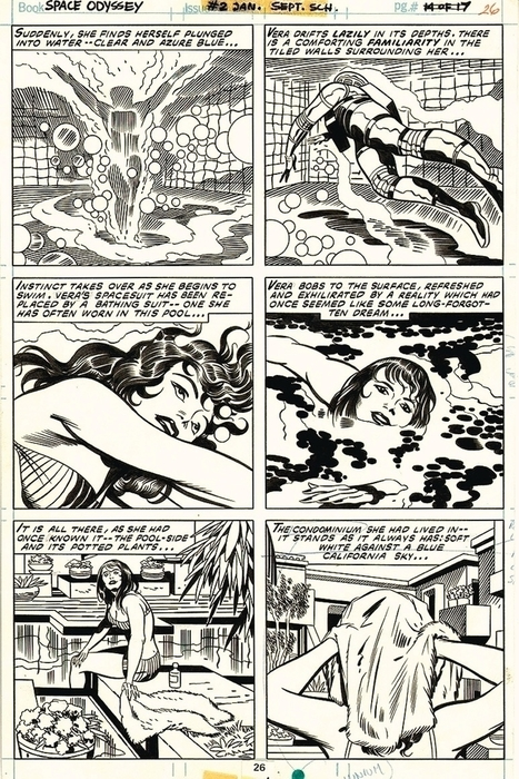 "Jack KIRBY & Mike ROYER - 2001: A SPACE ODYSSEY #2 pg 26 - Bronze Age - 1977, in Zaal Art's Jack Kirby Comic Art Gallery Room | Jack ""King"" Kirby 
